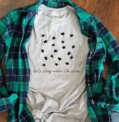 Camping t shirt, under the stars, love camping shirt, camper gift, unisex ladies crew neck tee, outdoor summer tee, hiking shirt