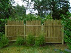Panneau en bambou pour jardin contemporain ou japonais, terrasses et patios, palissade, clôture, barrière, brise vue