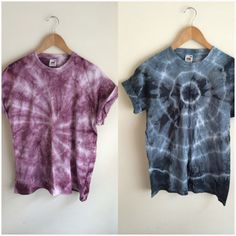 Tie Dye Spiral Grey/Black or Purple Crop Top by JessIrwinClothing