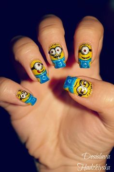 I Paint My Nails With Favorite Cartoons, Movies And Snacks | Bored Panda