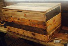 Reclaimed Pallet Wood Trunk / Coffee Table (Rustic Modern Simplistic)
