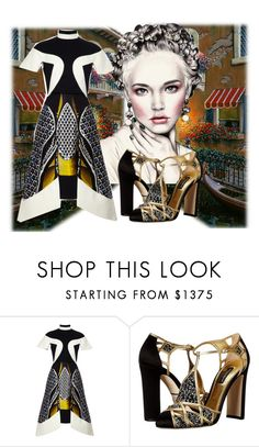 """""""A dress for today"""" by ejuszczyk ❤ liked on Polyvore featuring Peter Pilotto and Dolce&Gabbana"""
