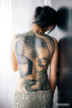 That in colour !!! Woah..so awesome  The Lotus Buddha Tattoo