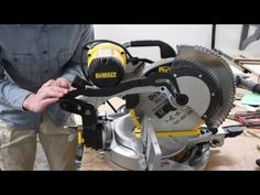 Fixing a wobbly miter saw - YouTube