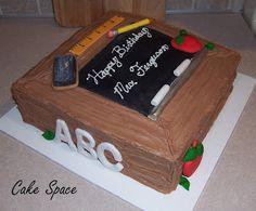 cute teacher cake