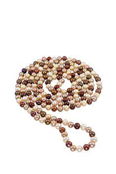JewelMak Multicolor Chocolate 7mm Freshwater Pearl Endless Necklace on HauteLook