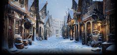 Snowy Diagon Alley - London, England