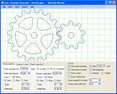 Gear Template Generator Program Free