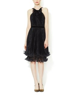 Organza Cocktail Dress with Bow