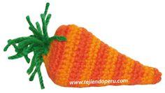 Zanahoria tejida a crochet (amigurumi) en dos tonos de naraja!!
