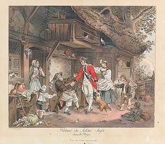 Retour du Soldat Suisse dans le Pays - 1780 by Sigmund Freudenberger,  SIKART Lexikon zur Kunst in der Schweiz