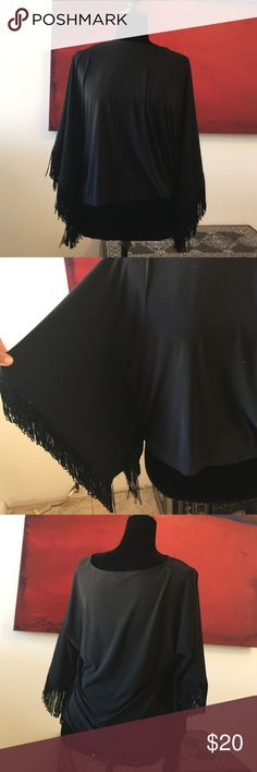 Chicos fringe blouse Worn but in great shape super cute perfect for layering and fall bundle for a better price it is a size one which is a size small in Chico's brand Chico's Tops Blouses