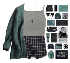 """Minneapolis"" by nanarachel ❤ liked on Polyvore featuring Topshop, Prada, Karen Kane, Kiki de Montparnasse, NARS Cosmetics, Chanel, Aesop, Diamond Supply Co., Puma and Ann Demeulemeester"