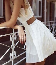 White dress! :