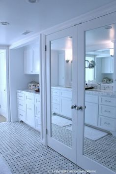mine is small so id only need one door. but i love the idea of a mirrored door for the closet.