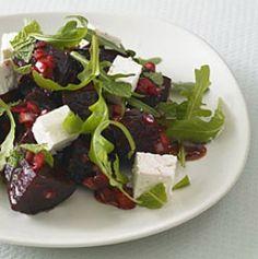 Roast beetroot and feta salad