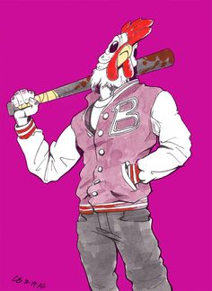 More Inktober - Hotline Miami by Razzen