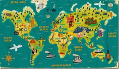 Lovely World thumb 32 Creative Maps of the World