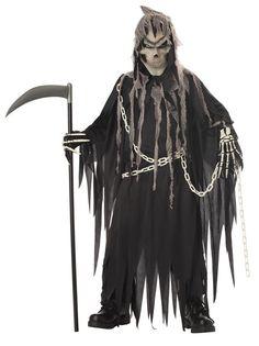 Mr. Grim Reaper Glow In The Dark Scary Child Costume
