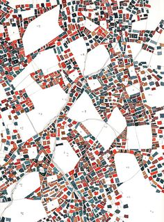 Fabrice Clapies, Vides polygonaux et urbanisme de masse (extract of drawing watercolor) contained but alive? Architecture Graphics, Architecture Drawings, Landscape Architecture, Architecture Diagrams, Architecture Portfolio, Urban Mapping, Map Quilt, Urban Analysis, Site Analysis