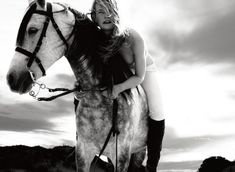 Horses / Fashion By: www.pegasebuzz.com | Milou Groenewoud by Philippe Cometti for Amica, july 2015.
