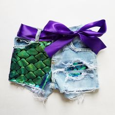 Mermaid Shorties (Bleached Light Denim) Distressed Denim Kids Summer Clothing Cute Adorable Fabric Style Outfit Toddler Girl Shorts Source by bchaynee Jeans Mermaid Outfit For Toddler, Little Mermaid Outfit, Mermaid Birthday Outfit, Toddler Girl Shorts, Toddler Girl Outfits, The Little Mermaid, Kids Outfits, Disney Outfits Girls, Mermaid Tail Skirt