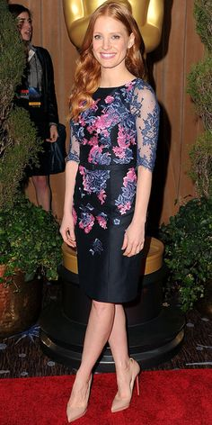 Jessica Chastain at the Academy Awards Luncheon