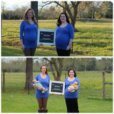 Before and After Sister Maternity Photo Shoot