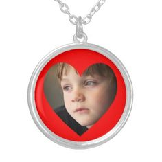 #photo - #Red Heart Photo Silver Plated Necklace