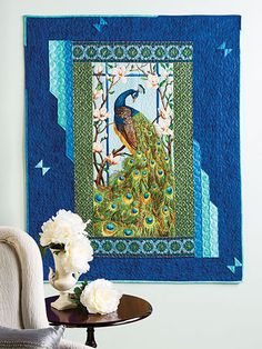 This is made from a panel and a bit of creative piecing.