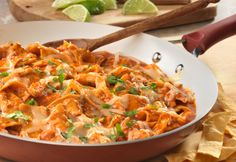 This Mexican inspired dish features a combination of shredded cooked chicken, tomato chipotle soup, onion, garlic, cheese and crispy tortilla strips. It's easy to prepare, super delicious and guaranteed to be a hit at your dinner table!
