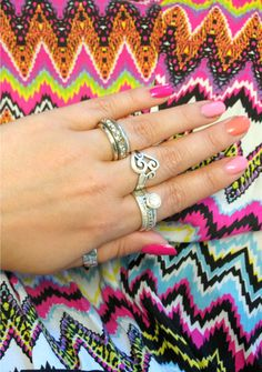 Other hand with jewelry Nails boho