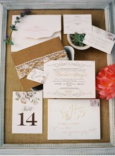 Luxury Wedding Invitations by Ceci New York - Our Muse - Wedding Invitations - Be inspired by this natural summer wedding in California at Ojai Valley Inn & Spa, Ojai, California - wedding, invitations, foil printing, hand calligraphy, custom stamps, die-cutting, letterpress printing, signs