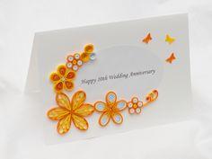 kartka ręcznie robiona na rocznicę ślubu