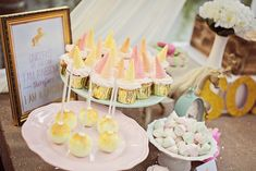 Sweets from Sophie's Unicorn Birthday Party at Kara's Party Ideas. See it all at…