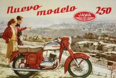 Jawa 250 Type 353 was a standard motorcycle designed and manufactured by Jawa Motorcycles in Czechoslovakia starting from 1954 till Vespa Motorcycle, Enfield Motorcycle, Motorcycle Posters, Motorcycle Engine, Moto Bike, Motorcycle Design, Classic Motorcycle, Vintage Motocross, Vintage Motorcycles