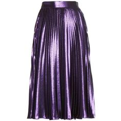 Metallic striped top ($1,475) ❤ liked on Polyvore featuring skirts, bottoms, faldas, gucci, saias, flounce skirt, purple skirt, flouncy skirt, striped skirts and rainbow skirt