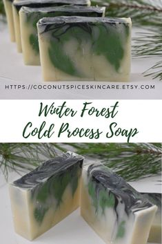 This cold process soap is fragranced with a pine forest winter scent and is handcrafted with olive oil, fair trade shea butter, and unrefined organic coconut oil. This makes a great holiday stocking stuffer or gift for a coworker, friend, or thank you gif Special Birthday Gifts, Birthday Gift For Wife, Wholesome Pictures, Pine Forest, Cold Process Soap, Organic Coconut Oil, Gifts For Coworkers, Best Friend Gifts, Fair Trade