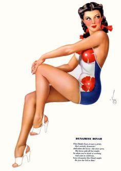 Alberto Vargas- Esquire Yearbook July 1947 -