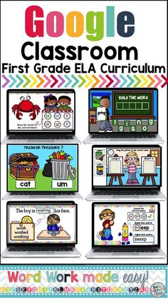 #Googleclassroom This digital resource is a bundle of everything you need to teach literacy and reading foundations in your first grade class. This resource includes activities to teach beginning and ending sounds, medial sounds, long and short vowel sounds, L Blends, S Blends, R Blends, beginning digraphs, ending digraphs, R controlled words, nonsense words, single syllable words, inflected endings, sight words, syllables, and Bonus Boom Cards on Vowel teams and reading cvc words.