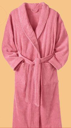 Terry shawl bath robe.