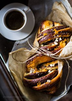 Nutella + Orange Babka — The Stiers Aesthetic - by Jonathan Stiers Best Bread Recipe, Bread Recipes, Povitica Recipe, Smitten Kitchen, How To Make Bread, Bread Making, Baking Flour, Bread And Pastries, Different Recipes