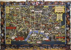 London, England (Travel and Train Map) Vintage Style Travel Poster Masterprint at AllPosters.com