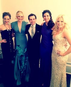 The talented Laura Osnes, Betsy Wolfe, Rob Mclure, Stephanie J. Block, and Megan Hilty.
