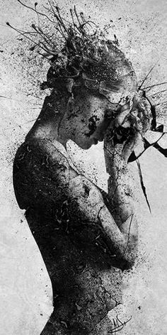 Photo Dark Fantasy Art, Dark Art, Surreal Art, Photomontage, Portrait Art, Love Art, Amazing Art, Art Photography, Double Exposure Photography