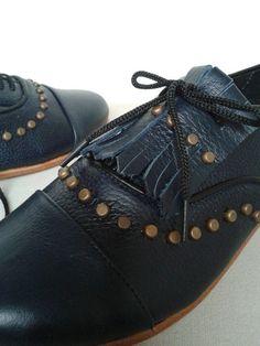 MULÍ, zapatos de mujer y accesorios, zapatos online, BsAs, Argentina | ZAPATO OXFORD AZUL