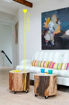 The Design Chaser: Interior Styling | Tree Stumps...with two huge trees coming down RIGHT NOW...I need some awesome tree stump ideas!!!