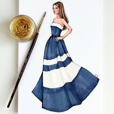 Style of Brush by Gizem Kazancıgil gizem kazancigil Dress Design Sketches, Fashion Design Sketchbook, Fashion Design Drawings, Fashion Drawing Dresses, Fashion Illustration Dresses, Fashion Illustrations, Fashion Dresses, Fashion Model Sketch, Fashion Sketches
