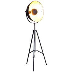 SATELLIGHT Standleuchte schwarz/gold - Stehlampen