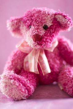 Cute & Cuddly Pink Teddy Bear ღ